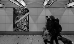 Bruxelles-Central (Theocharis Kalamaras) Tags: brussels central bruxelles centraal station train underground blackandwhite people run art street