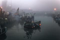 the early starter (stocks photography.) Tags: michaelmarsh photographer whitstable harbour fog foggy fish fishing trawler coast seaside mist misty