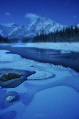 'Athabasca Moonlight' - 5 Reasons to Love Astrophotography (Gavin Hardcastle - Fototripper) Tags: astrophotography moonscape nightscape athabasca river banff jasper night photography mountains winter cold freezing ice snow stars gavinhardcastle fototripper