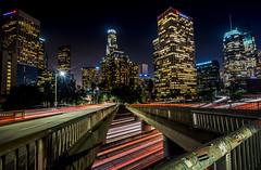 DTLA (mcalma68) Tags: los angeles architecture nightphotography lighttrails losangeles us