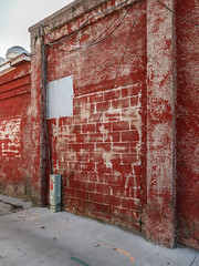 The red is falling off the wall. (Tim Kiser) Tags: 2016 20161023 allegancounty allegancountymichigan img6132 michigan october october2016 otsego otsegomichigan otsegoplainwell plainwellotsego alley backalley cables chippedpaint cinderblockwall cinderblocks concreteblockwall concreteblocks concretewall deterioratedpaint deterioratingpaint downtown downtownotsego electriccables electricalbox fadedpaint fadingpaint oldpaint paintedcinderblockwall paintedcinderblocks paintedconcrete paintedconcreteblockwall paved pavement peelingpaint redpaint redwall roofvent rooftopvent southmichigan southernmichigan southwestmichigan southwesternmichigan vent wall westmichigan westernmichigan wires