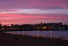 Sunset lines (planosdeluz) Tags: sunset gijon san lorenzo canon 60d pink silhouettes lines blue beach asturias
