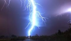 Very close lightning strike. (betadecay2000) Tags: sky storm rain weather night clouds germany deutschland nacht outdoor flash himmel wolke wolken stormy days nrw thunderstorm lightning blitz gewitter nite thunder regen wetter münsterland unwetter rosendahl blitze schauer darfeld