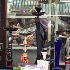 Kalashnikov shisha. Rue de Brabant, June 2015. (joelschalit) Tags: brussels shisha belgium arab guns isis immigration schaerbeek ak47 extremism waronterror kalashnikov