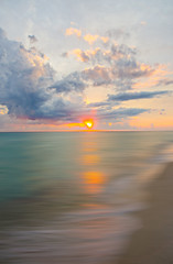 Birthday (MattGerlachPhotography) Tags: blue sunset sky beach water colors clouds florida smooth panamacitybeach standrewsstatepark