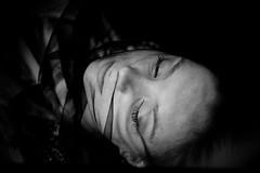 s w e e t  d r e a m s  -  t h e r a v e n (Fräulein Maximiliane) Tags: autumn portrait blackandwhite fairytale moments magic silence dreams wishes poems conceptual raven portraitphotography darkdream darkfairytale