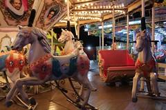 Night time horse ride. (Courtney Bickley) Tags: nightphotography horses horse slr beach night canon vintage pier seaside time magic memories carousel fair nostalgia nighttime nightlife dslr magical funfair blackpool southpier carouselhorse pleasurebeach