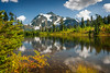 Picture Lake, Mt. Shuksan (EdBob) Tags: autumn trees summer usa lake snow color reflection fall tourism nature pine clouds america forest washington colorful natural northwest hiking scenic picture hike snowcapped nationalforest alpine fir pacificnorthwest destination washingtonstate mtbaker northcascades mtshuksan whatcomcounty westernwashington picturelake mtbakernationalforest edmundlowe edmundlowephotography