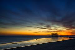 Lovers' Beach (Dr. RawheaD) Tags: england mamiya 35mm brighton long exposure sony westpier hoya ykk f35 nd400 a7r