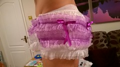 Kinzie Plastic Panties (Nikki_E-Chastity) Tags: wet panties diaper plastic sissy messy diapers chastity kinzie diapered abdl diaperlover plasticpanties