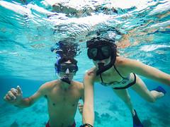 Snorkling in Belize (megisaweirdo) Tags: ocean blue sea reflection water swimming swim underwater extreme adventure explore snorkling caribbean wandering snorkle wander waterproof gopro