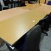 Oak straight desk