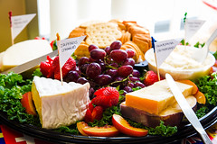 Day 314 - Cheese Plate (artkeh) Tags: food fruits cheese strawberries grapes crackers 2015 project365