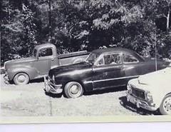 our car family (blue65pv544) Tags: bw ford island volvo 1940 pickup rhode 1950 flathead shoebox b18 1965 pv544