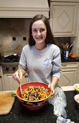 Rachael working on our Texas Caviar