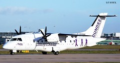 G-BYMK DORNIER 328-100 (douglasbuick) Tags: plane manchester scotland airport nikon flickr aircraft aviation 100 airliner dornier loganair ringway do328 d40 gbymk