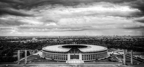 Olympiastadion from the Bell Tower