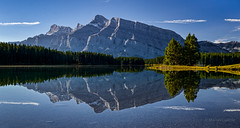 Mount Rundle, Two Jack Lake (martincarlisle) Tags: trees sky canada mountains reflections rockies lakes parks alberta rockymountains nationalparks mountrundle banffnationalpark canadianrockies twojacklake greatphotographers sigmalenses photoninja innamoramento breathtakinglandscapes sonycameras