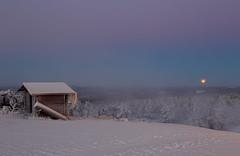 Full moon setting (gallserud) Tags: varmland sweden winter snö snow hovfjället moon