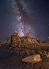 Echos of Long Forgotten Times (Wayne Pinkston) Tags: valleyofdreams badlands desert wilderness newmexico hoodoos night sky nightsky nightphotography lightlandscape nightscape waynepinkston lightcrafter wwwlightcraftercom wwwwaynepinkstonphotocom star stars starrynight milkyway galaxy cosmos theheavensstrophotography landscapeastrophotography widefieldastrophotography longexposure