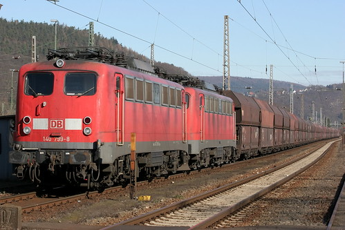 DB Schenker 140 799-8 und 140 784-0 Kohlezug, Trier-Ehrang