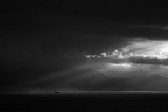 Calma (J. Fidalgo) Tags: blackandwhite contraste clouds tormenta sea barco landscape nature naturelovers monochrome minimal minimalist basquecountry paisaje euskadi naturaleza mar