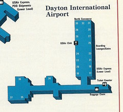 USAir DAY diagram, 1991 (airbus777) Tags: daytoninternational airport diagram day usair usairways 1991 terminal