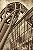 on our way to Wembley (plw1053) Tags: plw1053 paullgwells london wembley stadium architecture abstract building glass windows toned monochrome blackandwhite bw dramatic detail reflection noiretblanc structure metal arch