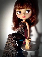 Blythe-a-Day January#10: Peculiar&#22: Cat Questions: Francoise Dorleac & The Patient Cat