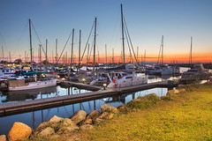Scarborough Marina || REDCLIFFE PENINSULA || QUEENSLAND (rhyspope) Tags: australia aussie cld queensland scarborough marina sea ocean marine sunrise sunset boat yacht rhys pope rhyspope canon 5d mkii reflection night redcliffe