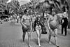 Street Meat (FimRay) Tags: blackandwhite bw monotone monochrome people traditionalstreet street shirtless males men woman female bikini group thailand