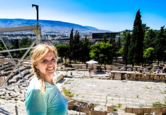 Joy at theater of Dionysus, Athens (Andy Montgomery) Tags: athens greece theater dionysos theaterofdionysos acropolis