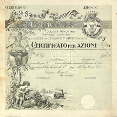 CASSA AGRICOLA COOP. CASSANO MURGE (scripofilia) Tags: 1900 agricola azioni cassa cassaagricolacooperativacassanomurge cassano cooperativa murge