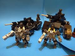 Bat Tank & HS-01 (THE CAT WORKER) Tags: moc mech military lego