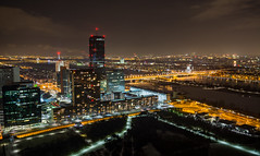 Vienna nightscape (Milos Golubovic) Tags: vienna wien nightscape cold wind danube tower donauturm evening longexposure nikon sigma 1770mm d7100 austria ngc panorama cityscape city skyscrapers pano winter greatphotographers