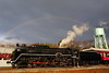 Classic traveler (Teruhide Tomori) Tags: steamlocomotive railway sl kyoto japan umekoji 京都鉄道博物館 日本 kyotorailwaymuseum 京都 梅小路 蒸気機関車 afternoon evening rainbow 虹 c62