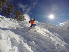 Taking advanage of another snow day (benjaminfish) Tags: heavenly ski lake tahoe kid winter snow january 2017