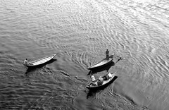 Boats (Sajeeb75) Tags: blackandwhite boat river water outdoor dhaka day nikon bangladesh monochrome