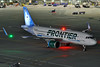 N304FR (Rich Snyder--Jetarazzi Photography) Tags: frontierairlines frontierflight fft f9 airbus a320neo a320200n a320251n n304fr jacktherabbit pushback startup departure departing sanfranciscointernationalairport sfo ksfo millbrae california ca airplane airliner aircraft jet plane jetliner ramptowera rcta atower dark night lights