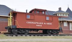 South Lyon, Michigan (4 of 8) (Bob McGilvray Jr.) Tags: southlyon michigan caboose wood wooden red cupola co chesapeakeohio railroad train tracks display public museum depot