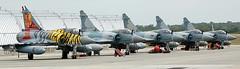 Dassault Mirage-2000's (707-348C) Tags: landivisiau lfrj fighter arméedelair jetfighter dassaultbreguet dassault mirage2000 breguet tigermeet mirage m2000 military 91 96 99 100 114