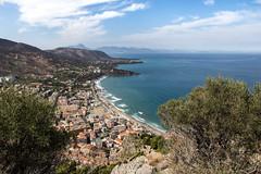 Cefalu 5 (gsamie) Tags: 600d canon cefalu guillaumesamie italy rebelt3i sicilia sicily beach blue city clouds gsamie landscape mountain sand sea sky wideangle