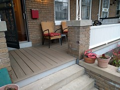 2017-03-01 16.38.22 (whiteknuckled) Tags: frontporch ouroldrowhouse porch front yard exterior deck decking railing outside