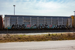 (o texano) Tags: houston texas graffiti trains freights bench benching levis wasp hawk mfk syw