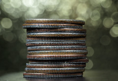 Dimes (*Millie*) Tags: madeofmetal dimes macromondays bokeh metals money raynoxdcr250macrolens coins inspiredbylove stilllife tabletopphotography macro