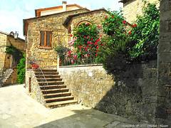 Montichiello, Il borgo ,The ancient village (michele masiero) Tags: italia siena toscana valdorcia montichiello fotosketcher