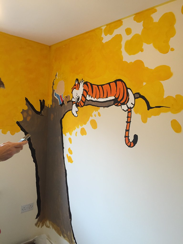 Calvin And Hobbes Wall Mural Image collections - home design wall ...