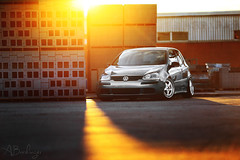 Golden Hour. (Andrew Barshinger Photography) Tags: sunset rabbit vw canon volkswagen perfect automotive flare goldenhour stance sunflare 6d 135l stanceworks