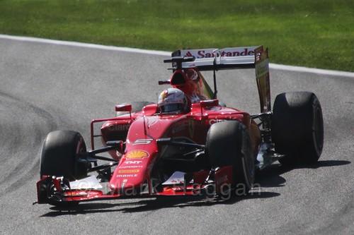 Sebastian Vettel in Free Practice 3 for the 2015 Belgium Grand Prix