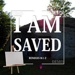 """Ik ben gered"" Canvasdoek (Zalving.nl - De Zalfolie Webwinkel) Tags: poster god jesus canvas identity yeshua proclamation doek christelijk christelijke"
